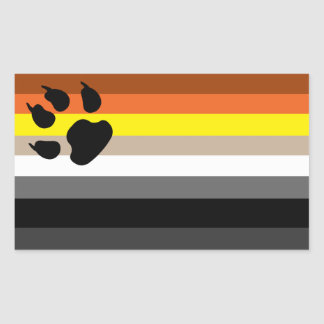Gay bear pride sticker. sticker