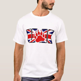 GAY BEAR RED PAW UK T-Shirt