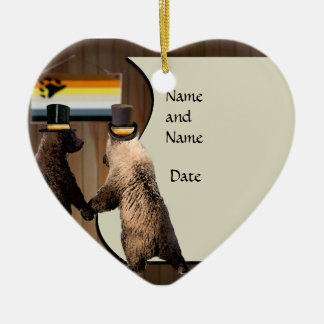 Gay Bear Wedding or Ceremony Ornament Favors