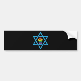 Gay Black Jewish Bumper Sticker
