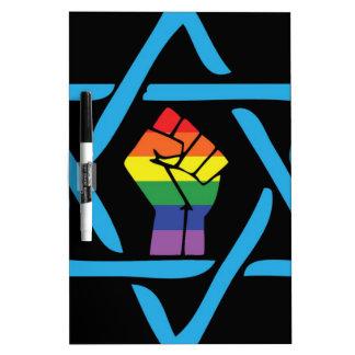 Gay Black Jewish Dry Erase Board