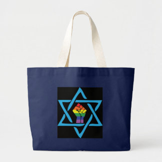 Gay Black Jewish Large Tote Bag