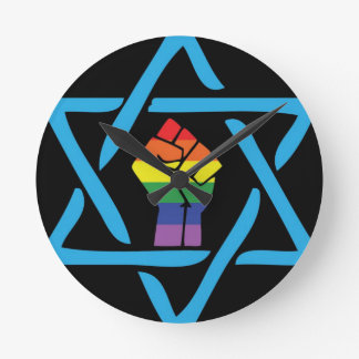 Gay Black Jewish Round Clock