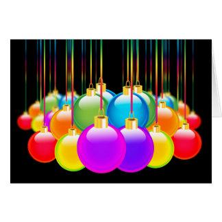 Gay Christmas Holiday Xmas Diversity Rainbow Color Card