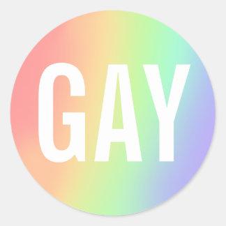 gay classic round sticker