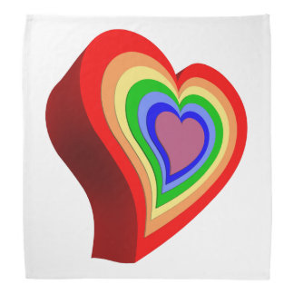 Gay colorful heart bandana
