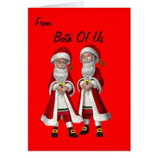 Gay Couple(male) Christmas Card