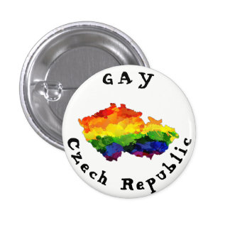 GAY Czech Republic Badge 1 Inch Round Button