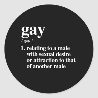 gay definition - defined lgbtq terms - LGBT Defini Classic Round Sticker