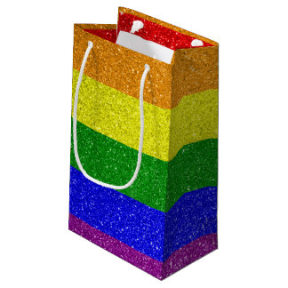 Gay flag small gift bag