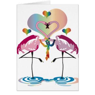 Gay Flamingos Cards