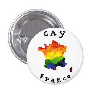 GAY France Badge 1 Inch Round Button