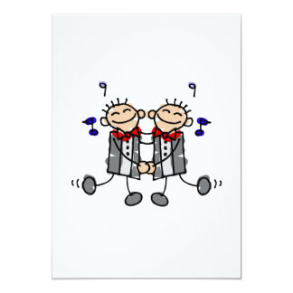"""Gay Grooms first dance 5"""" X 7"""" Invitation Card"""