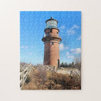 Gay Head Lighthouse, Martha's Vineyard MA Jigsaw Puzzle