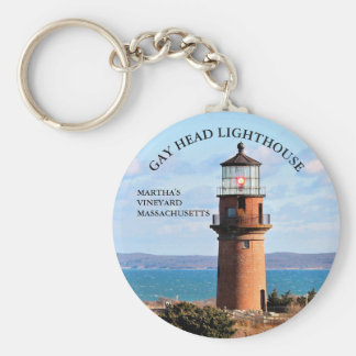 Gay Head Lighthouse, Martha's Vineyard MA Keychain
