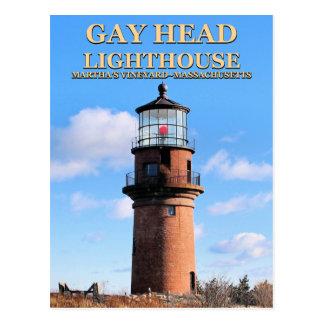 Gay Head Lighthouse, Martha's Vineyard MA Postcard