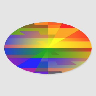 """""""Gay I Am""""  Products Oval Sticker"""