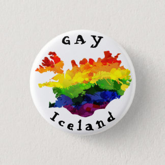 GAY Iceland Badge 1 Inch Round Button