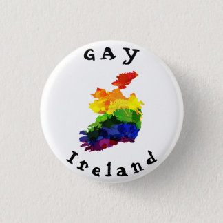 GAY Ireland Badge 1 Inch Round Button