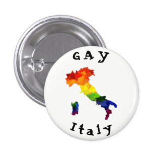GAY Italy Badge 1 Inch Round Button