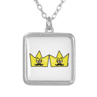 Gay King Rei Crown Coroa Silver Plated Necklace