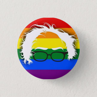 Gay/Lesbian for Bernie Sanders 1 Inch Round Button