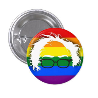 Gay/Lesbian for Bernie Sanders 1 Inch Round Button