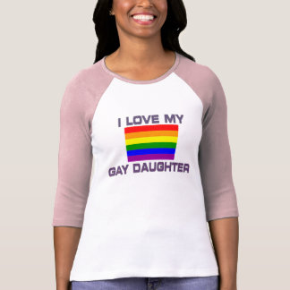 Gay & Lesbian - I Love my gay daughter T-Shirt