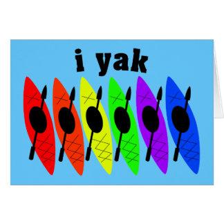 Gay Lesbian Kayaking Greeting Card
