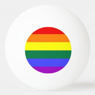 Gay Lesbian LGBT Rainbow Pride Flag Ping-Pong Ball