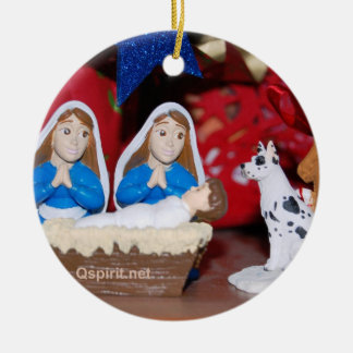 Gay / Lesbian Nativity: 2-Sided Christmas ornament