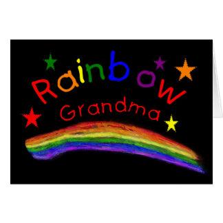 "Gay Lesbian ""Rainbow Grandma"" Card"