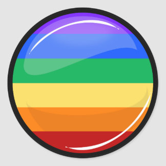 Gay Lgbt Pride Round Rainbow Flag Classic Round Sticker