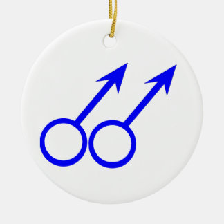 Gay Lovers Custom Pendant Ceramic Ornament