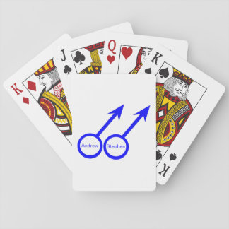 Gay Lovers Customizable Playing cards