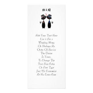 Gay Marriage Cool Cat Grooms Wedding Custom Rack Card