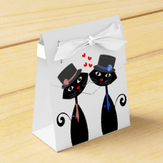 Gay Marriage Cool Cat Grooms Wedding Party Favor Box