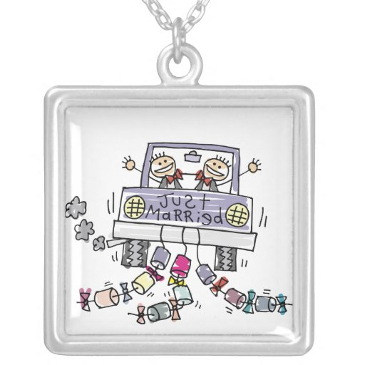 Gay Marriage Groom Just Married Necklace