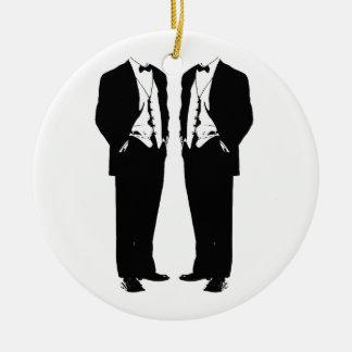 Gay Marriage Round Ceramic Ornament