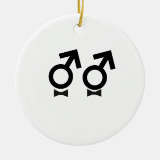 Gay Marriage T-shirt Ceramic Ornament