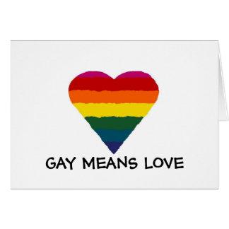 GAY MEANS LOVE, Rainbow Card