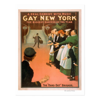 Gay New YorkRich Gentleman Theatre Poster Postcard