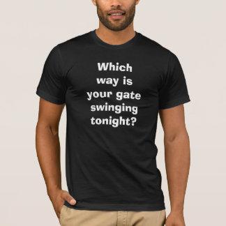 Gay Nightclub Gate Swinging Bisexual LGBTQ Funny T-Shirt