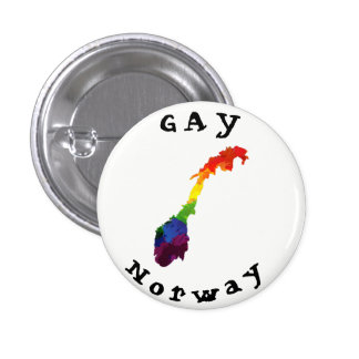 GAY Norway Badge 1 Inch Round Button
