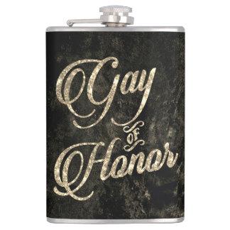 Gay of Honor Bar | Bridal Party Keepsake Gold Hip Flask
