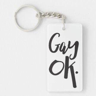 Gay Ok LGBT Pride Keychain