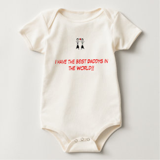 Gay parents Best daddys. Baby Bodysuit