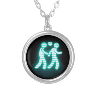 Gay Pedestrian Signal Necklace