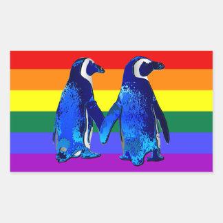 """Gay Penguin Couple"" Sticker"