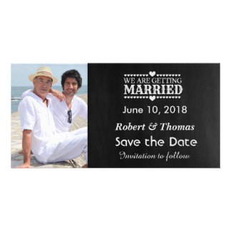 Gay Photo Save the Date Personalized Photo Card